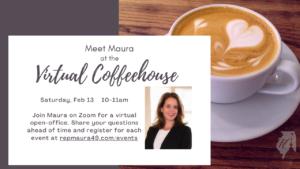 Virtual Coffeehouse event Feb 13, 10-11am, Zoom