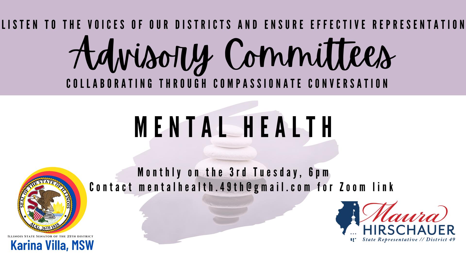 Mental Health Advisory Committee flyer