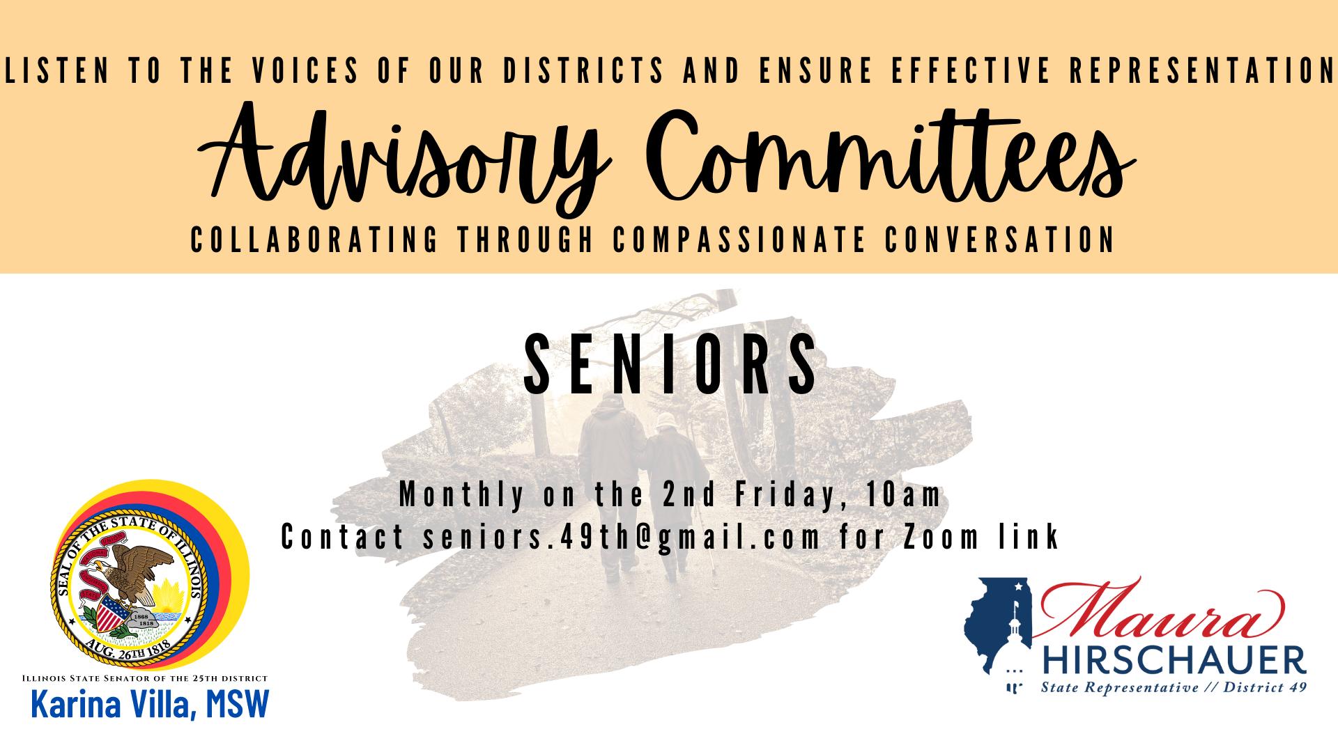 Seniors Advisory Committee flyer