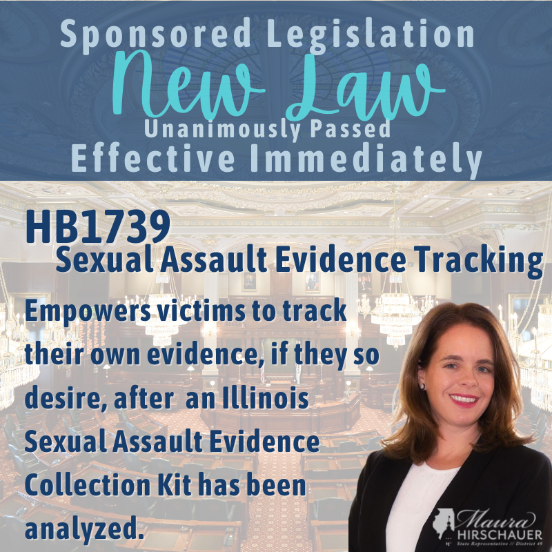 HB1739-Sexual Assault Evidence Tracking - Empowers victims to track their own evidence, if they so desire, after an Illinois Sexual Assault Evidence Collection Kit has been analyzed.